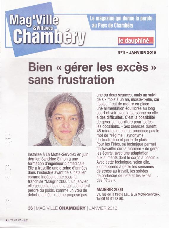 Article de presse diététique nutrition <em>(de Sandrine Simon)</em>